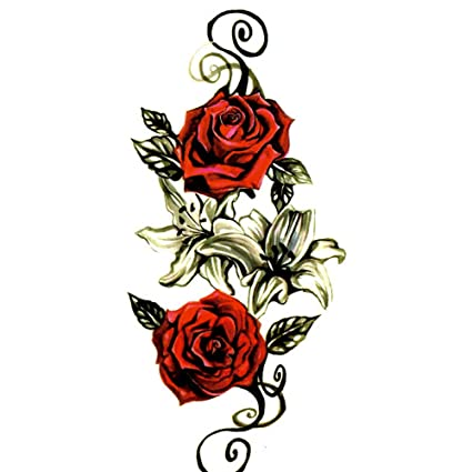 Pegatinas de tatuaje personalizadas desechables, diseño de flor ...