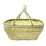 Sunny Hill Hand-woven Bamboo Basket Fruit And Vegetable Basket
