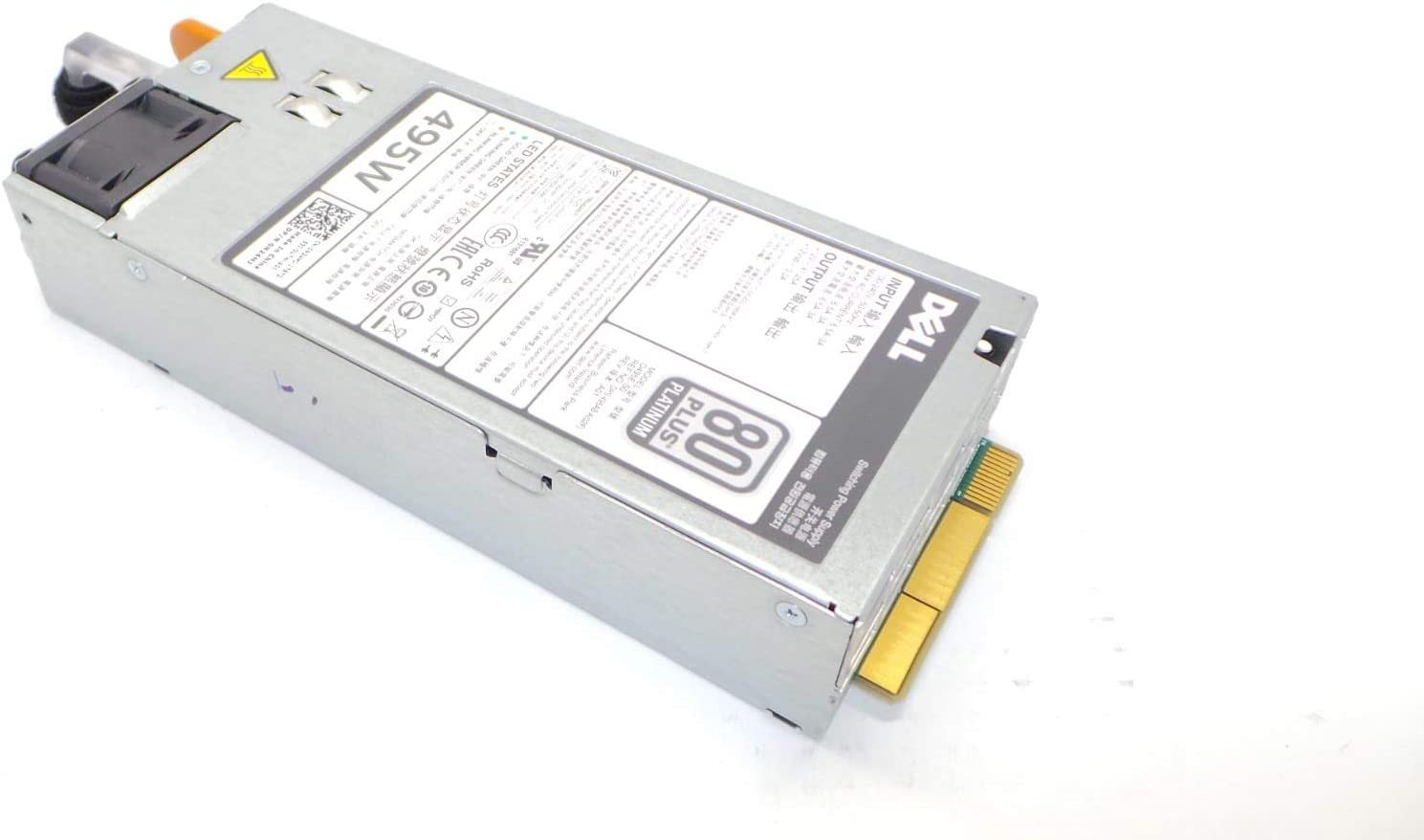 495W 80 Plus Platinum REDUNDANT Power Supply FITS Dell PowerEdge T320 T420 T620 R620 R720 R720XD D495E-S0 N24MJ 3GHW3 T420 D495E-S0 13MD5 0N24MJ 03GHW3 013MD5
