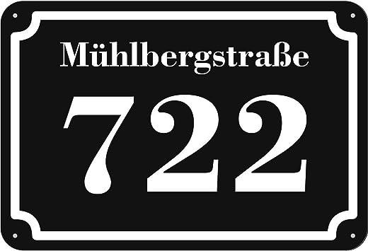 Hausnummer geschrieben