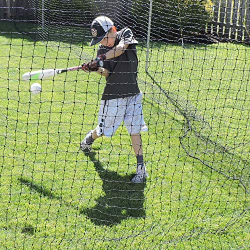 Jugs Batting Cage Nets - #27 Twisted Knotted Black Polyethylene
