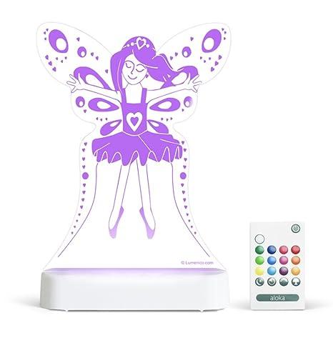 hada NUEVA Sleepylight y mandoSe puede con elegir mucho masDe para Luces LED la de niños colorluminosidadhorario de Noche RGB GAMA Princesa de hrQCBdxts