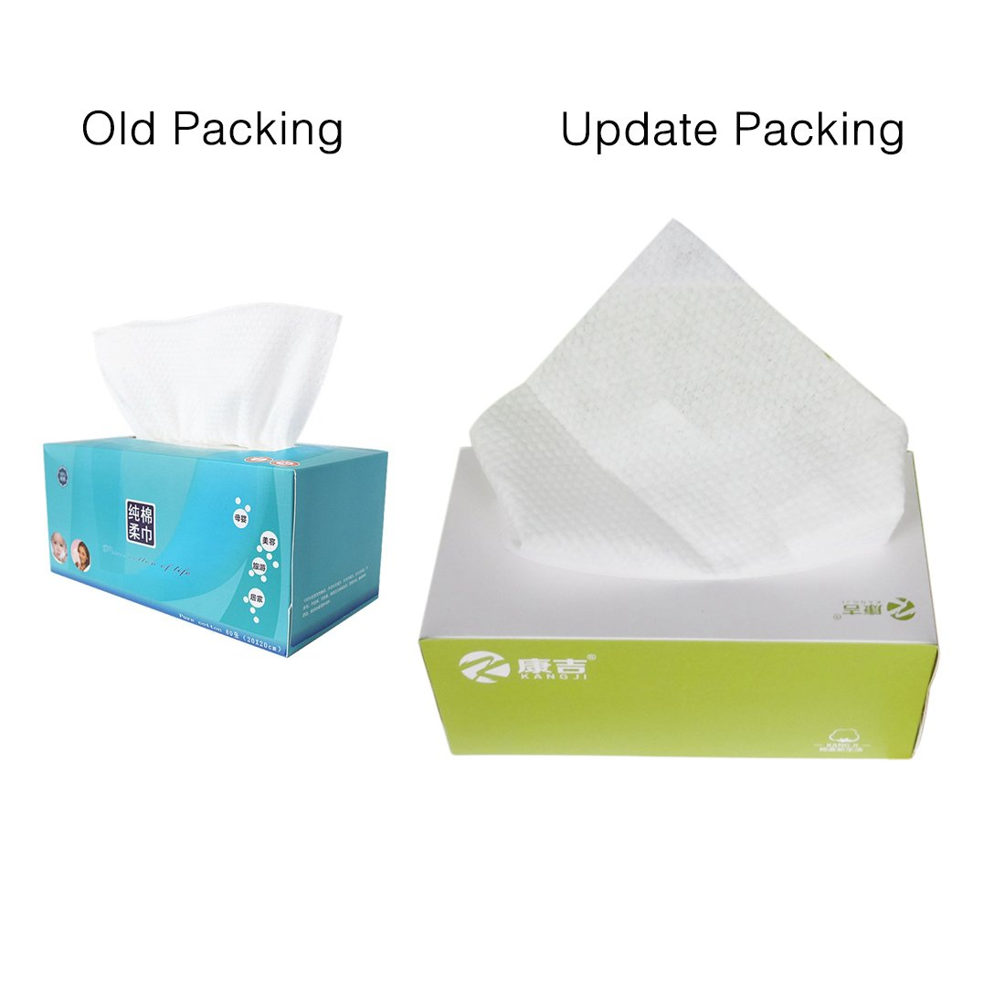 Cleaning Face Towel, PeleusTech Cotton Removable Tissue Napkin Face Towels Disposable Cleaning Face Towel Dry and Wet Soft Cloth (Style 1)