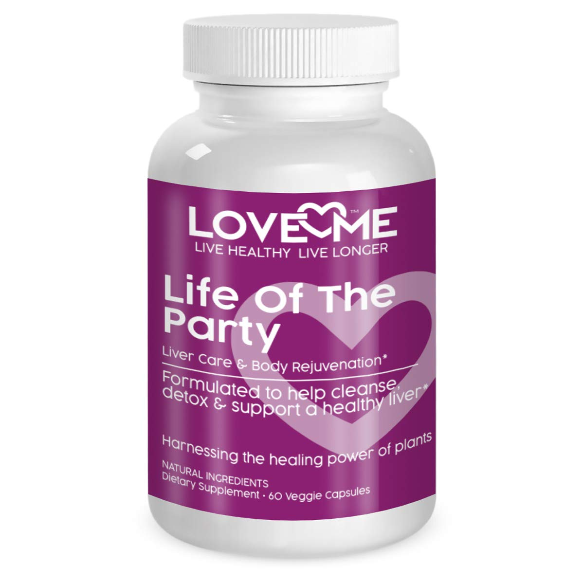Love Me Nutrition – Life of The Party – Liver Kidney Cleanse, Detox Repair Herbal Formula. Milk Thistle, Dandelion. Digestive Support- Natural No Artificial Ingredients. Non-GMO – 60 Vegi Caps