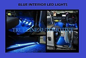 "2005-2010 CHRYSLER 300 300C (2) 12"" Blue Foot Well Under dash Floor Light Interior Strips 1210 15SMD 2006 2007 2008 2009 05 06 07 08 09 10 LIMITED TOURING SRT-8 SRT8"