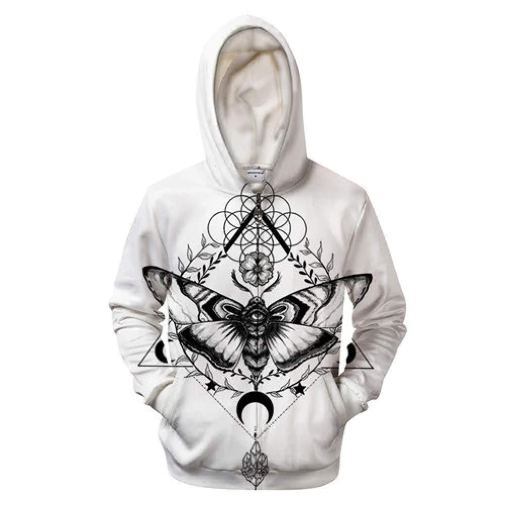 QYIOAZ 3D Zip Hoodies Männer Reißverschluss Sweatshirt Trainingsanzüge Pullover