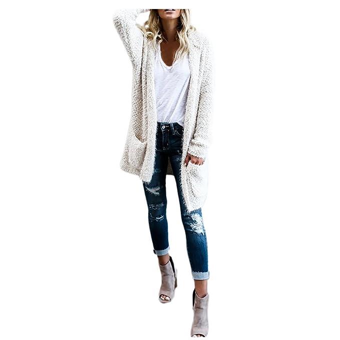 Elecenty Damen Stricken Strickpullover Sweater Mantel