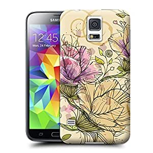 Unique Phone Case Blooming lotus Hard Cover for samsung galaxy s5 cases-buythecase