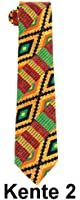Men's Microfiber Kente African Print Necktie Tie & Hankie Set
