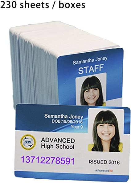 carte de membre vierge Carte pvc vierge imprimable à jet d'encre blanche pour carte de