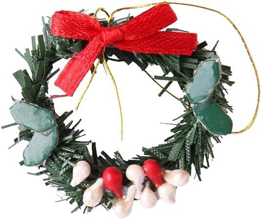 Dollhouse Miniature Christmas Wreath 1:12 Scale