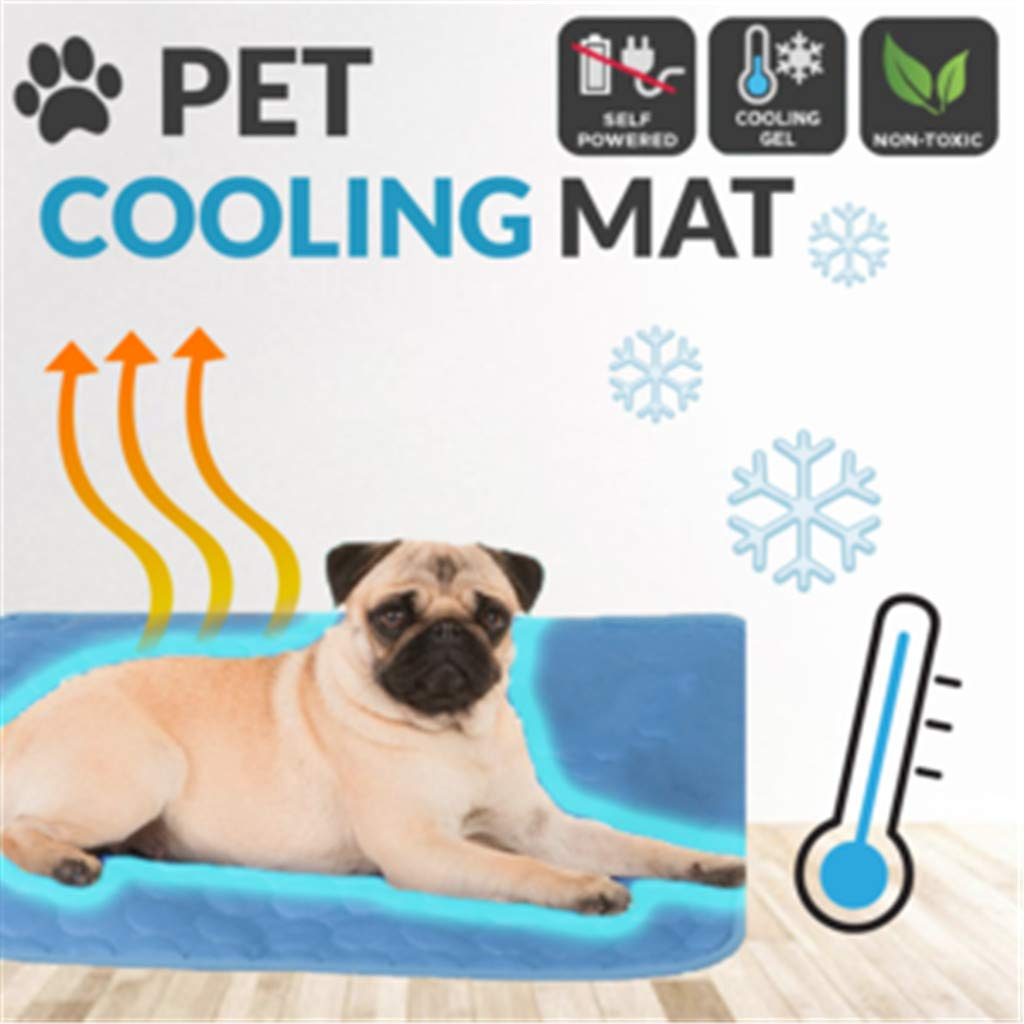 youeneom Dog Cooling Mat, Large Cooling Pad for Dogs & Cats, Pet Self Cooling Blanket for Floor, Kennels, Crates and Beds Indoor Or Outdoor, Non Toxic Ice Silk Mat (S)