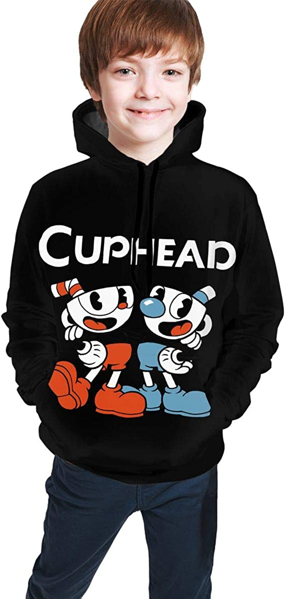 Cup Steam Head Youth Hooded Sweater Boys Girls Casual Hoodie Pullover Sweatshirt