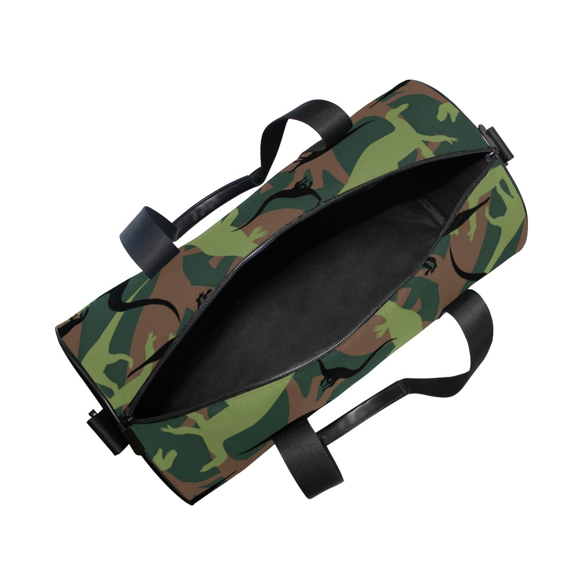 Naanle Dinosaur Camouflage Pattern Army Military Texture Camo Gym bag Sports Travel Duffle Bags for Men Women Boys Girls Kids by Naanle (Image #5)