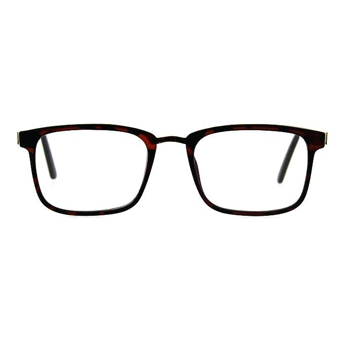 1bbbab10b1 anteojos de lectura unisex anteojos de aumento rectangulares marco de moda,  Dorado (Tortoise Gold