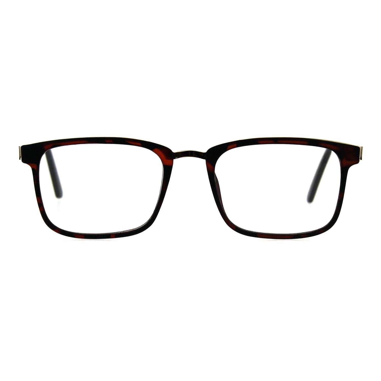 2fee62f13590 Amazon.com  Reading Glasses Unisex Magnified Eyeglasses Rectangular Frame  Black +1  Clothing