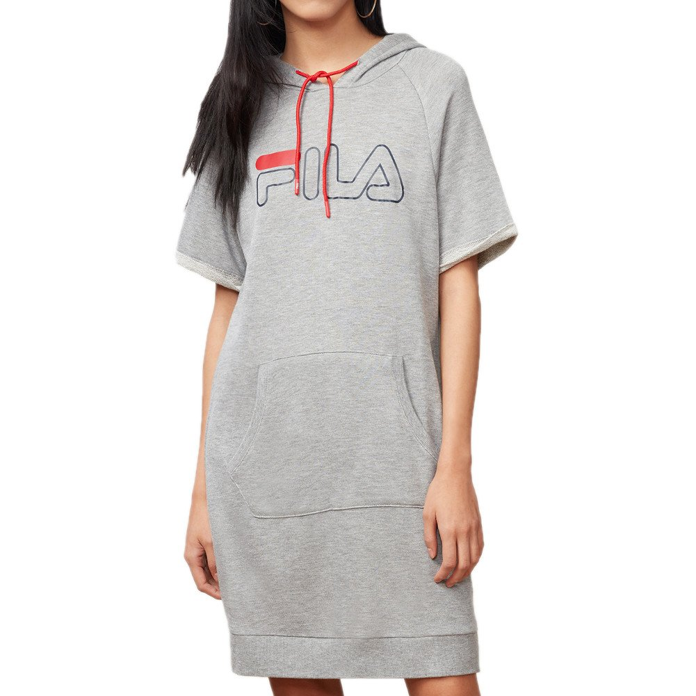 Fila DRESS レディース B077Y251DT Small|Grey Heather, Chinese Red, Navy Grey Heather, Chinese Red, Navy Small