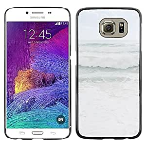LECELL--Funda protectora / Cubierta / Piel For Samsung Galaxy S6 SM-G920 -- Grey Stormy Seas Weather Ocean Coast --