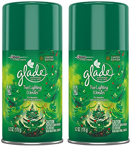 Glade Automatic Spray Refill - Limited Edition - Winter Collection 2017 - Tree Lighting Wonder - Net Wt. 6.2 OZ (175 g) Per Refill Can - Pack of 2 Refill Cans