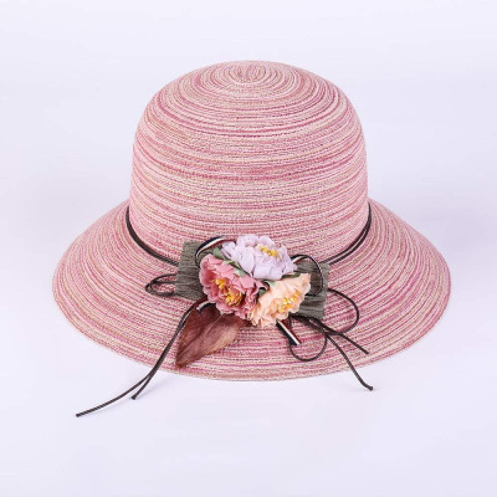 kyprx Sombreros para Mujer bombín Vintage Femenino Paja Simple ...