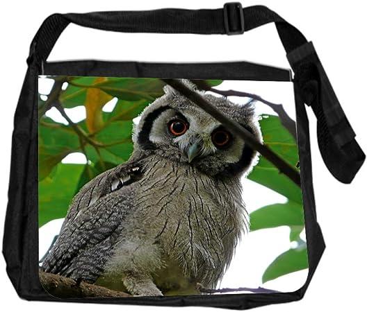 Diaper Bag Laptop Bag Cute Owl on a Branch Canvas Messenger Bag iPad Bag School Bag