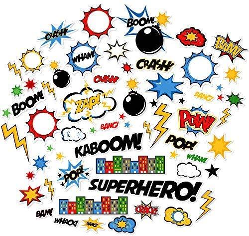 Paper Die Cuts - Superhero - Over 60 Cardstock Scrapbook Die Cuts - by Miss Kate -