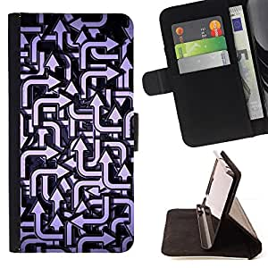 Jordan Colourful Shop - direction pattern blue white For Samsung Galaxy Note 3 III - Leather Case Absorci???¡¯???€????€????????