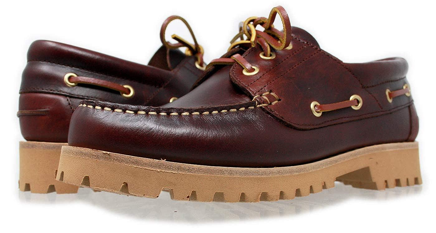 TALLA 42 EU. PORTMANN Deck Men's Classic | All Seasons | 3 Eye Boat Shoe | Oiled Leather | Genuine Mocassin Extralight | Zapatos del Barco Náuticos para Hombre…