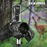 """Tycka Camera Rain Cover, can be connected to camera strap and Flash, with 10pcs Absorbent Paper, Rainproof Raincoat for DSLR Canon Nikon Sony Pentax Olympus and more (Lenses with Hood Up to 10"""" Long)"""
