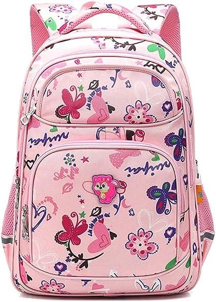Kinderrucksack 4-6 Klasse M/ädchen Rucksack 1-3 Klasse 5 Jungen und M/ädchen WYHYQY Primary Schultasche 6-12 Jahre alt weiblich
