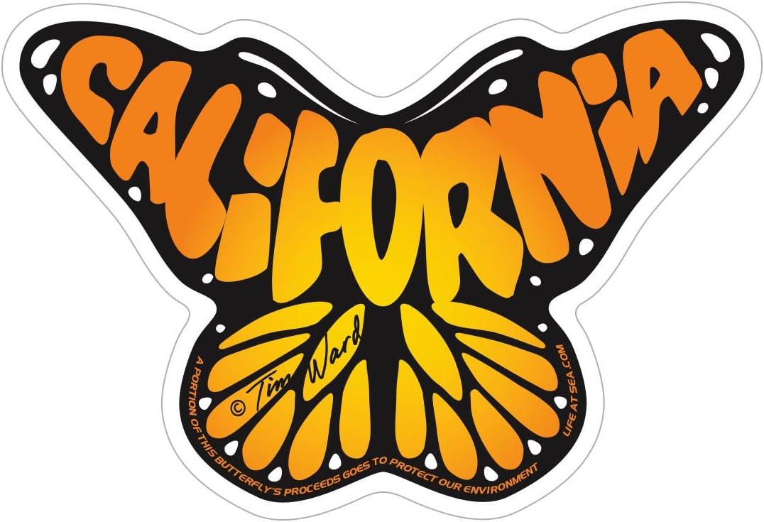 CA Monarch Life at Sea Sticker