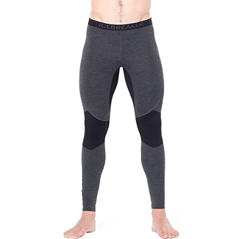 Icebreaker 260 Zone Leggings Hombre, Jet Heather/Black Talla ...