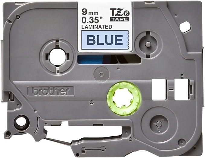 Brother P-touch tape TZe-521 Schwarz auf Blau 9mm TZ-521 Black  Blue ORIGINAL