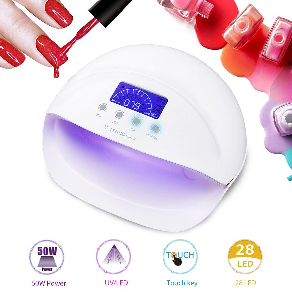 W Lámpara de Uñas UV LED Bombillas Secador de Uñas de Gel