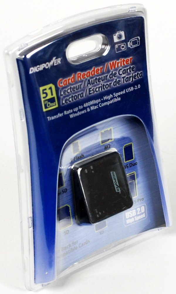 SD Digipower DP-FCR43 51 in 1 Card Reader//Writer for MS Micro SD and XD 4 Slot