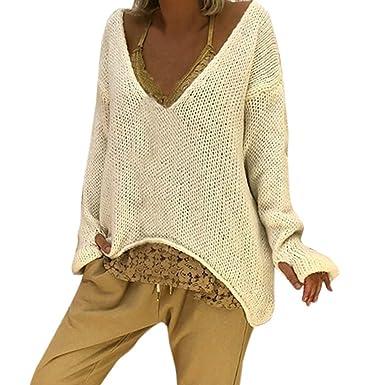 Robemon✬Chandail Robe Pull Femme Automne Hiver Col Haut La Mode Épais  Tricot Mme Manches ed23b7d74d0