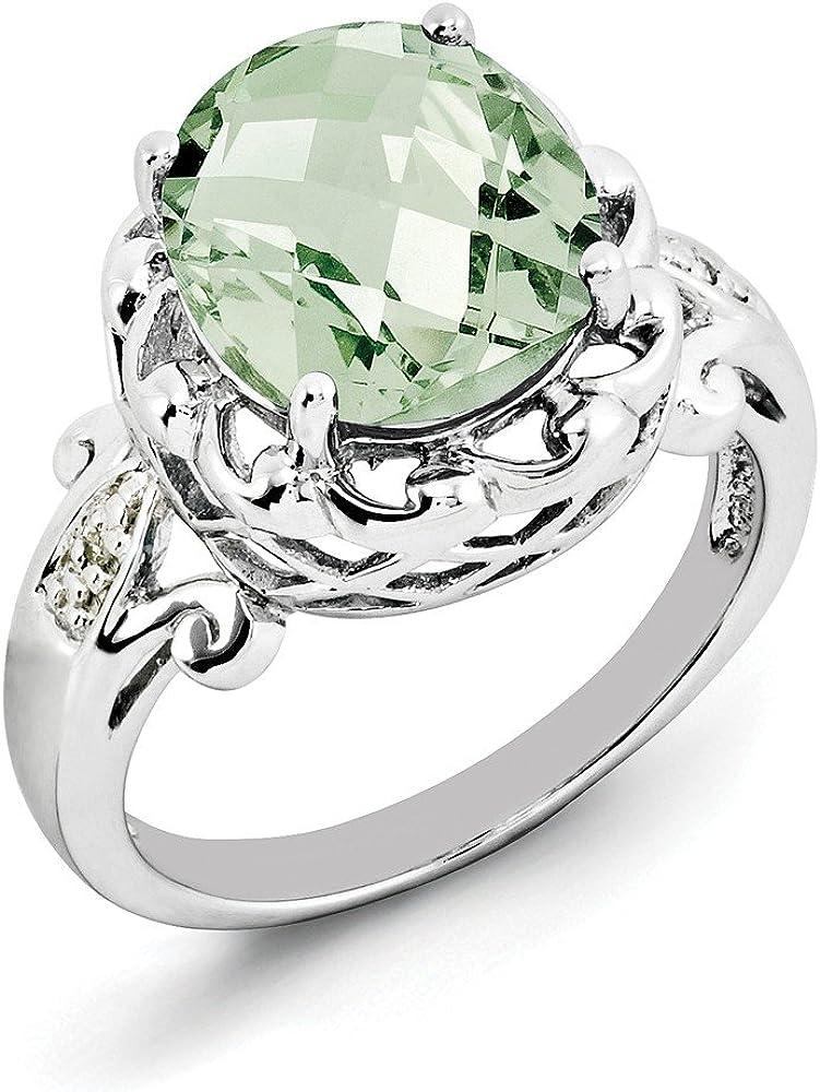 Sterling Silver Amethyst Ring Gem Wt 4.55ct