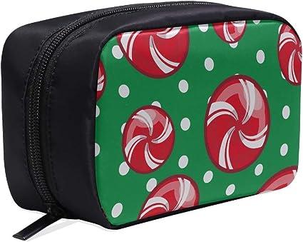 Bolso de viaje para hombre Bastón de caramelo de Navidad Dulces dulces Bolsas de cosméticos Mujeres Bolso de viaje cómodo Bolso de cosméticos colgante para hombres Bolsas de cosméticos Estuche multi: Amazon.es: