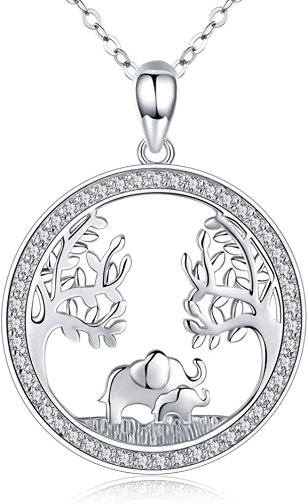 sterling silver elephant charm mother son Elephant Jewelry Mother daughter sisters elephant pendant Silver Elephant necklace