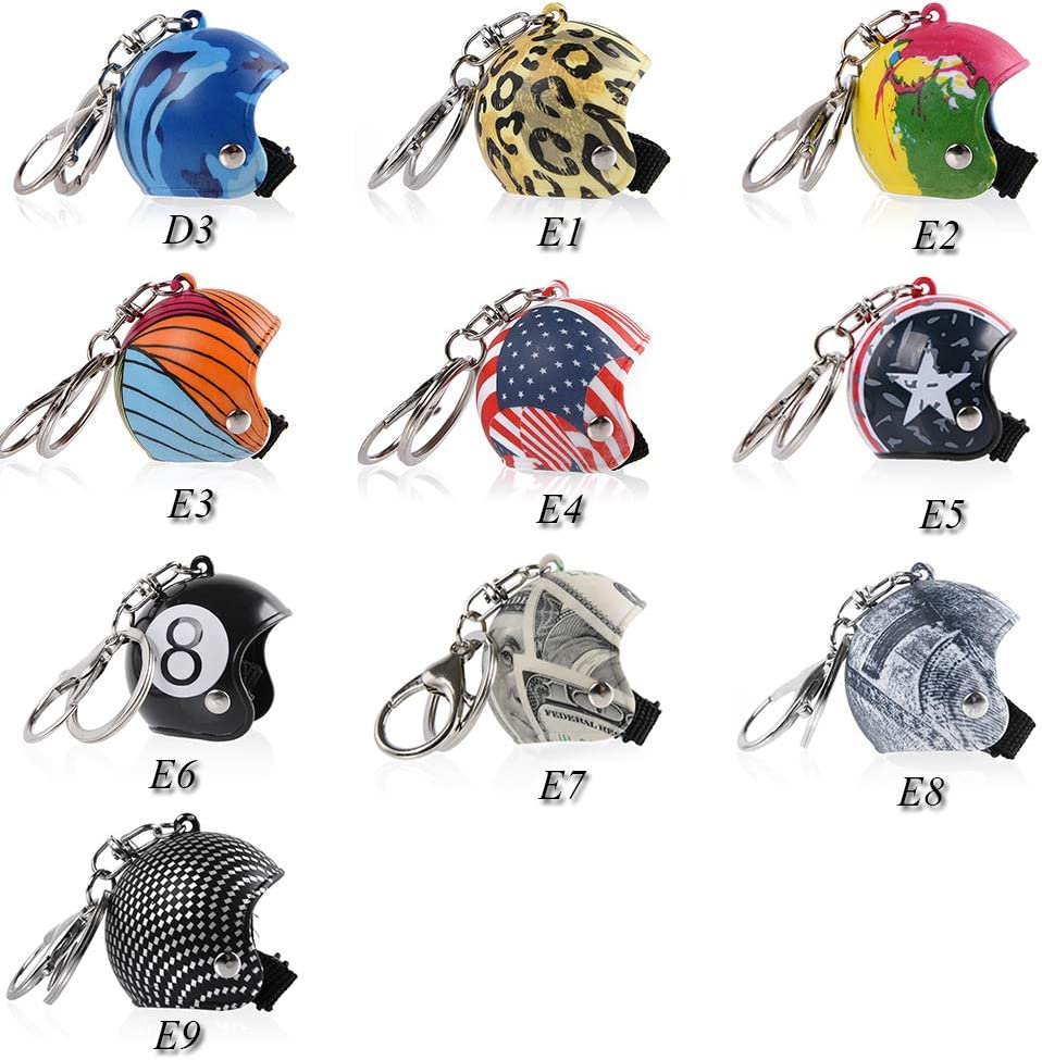 FATExpress Mini Motorcycle Helmet Keychain Keyring Key Chain Ring Pendant Men Women Kid Gift Birthday Christmas Xmax Year Present Collection Souvenir B6