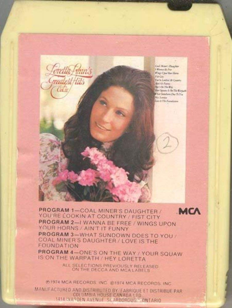 Amazon com : LORETTA LYNN Greatest Hits Vol  II 8 Track Tape
