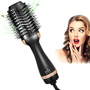 Hair Dryer Brush in One, One Step Hair Dryer & Volumizer Brush Hot Air Brush Styler & Dryer for Straightening, Round Brush Blow Dryer, Brush Hair Dryer Gift for Women/Girlfriend/Mother's Day