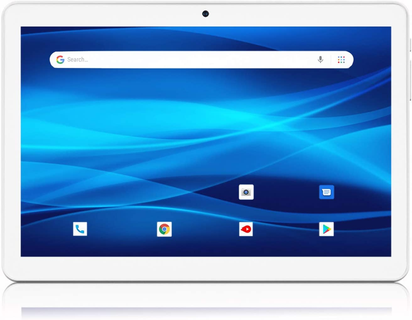 Android Tablet 10 Inch, 3G Phablet, Android 9.0 Tablets, 32GB Storage, GMS Certified, Dual SIM Card Slot and Cameras, WiFi, Bluetooth – Silver