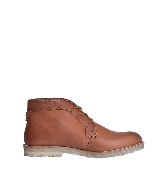 nobrand Mujer Zapatos Botas Botines Boots - Piel - Marrón coñac 41: Amazon.es: Ropa y accesorios