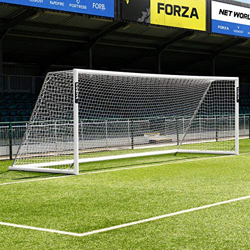 Forza Alu110 Soccer Goal (12ft x 4ft to 24ft x 8ft) - Choose Your Soccer Goal Fixing Type - Freestanding (Not Fixed) Or Socketed (Fixed) Aluminum Soccer Goals [Net World Sports]