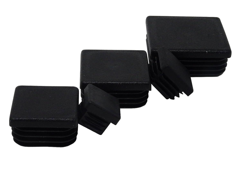 /En plastique SBS Lot de 20/bouchons /à lamelles pour tubes carr/és de 20 x 20/mm//à 50 x 50 mm