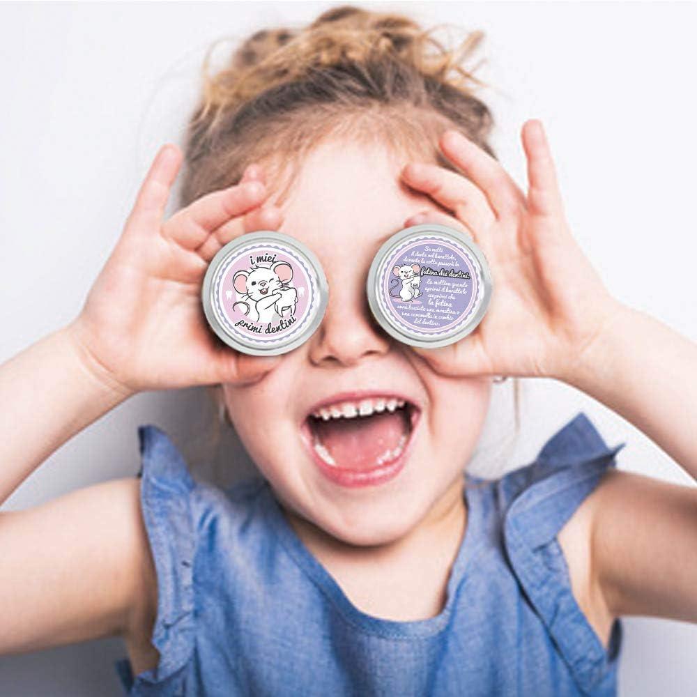rosa FANS /& Friends Scatola Denti da Latte per bambini e bambine e-book gratuito incluso scatola porta dentini di bambini scatola fatina dei dentini