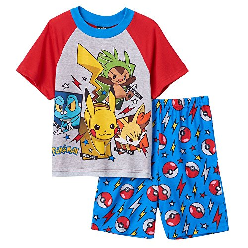 Pokemon Big Boys Character Shorts Pajama Set (8) (Pokemon Shorts)