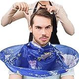 Barber Cloak, AMA(TM) Hair Cutting Cloak Gown Umbrella Nylon Hair Salon Cape Hairdresser Haircut Bib Apron (Blue)
