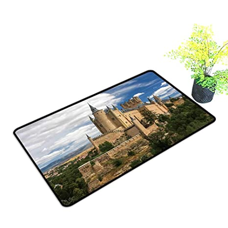 Amazon.com: gmnalahome Extra Thick Door Mat Castle Segovia ...